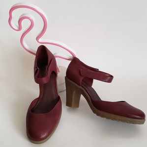 Aersoles  leather shoes - wine color